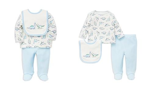 Little Me Boys' Dino Pals Tee, Footie Pants & Bib Set - Baby - Bloomingdale's_2