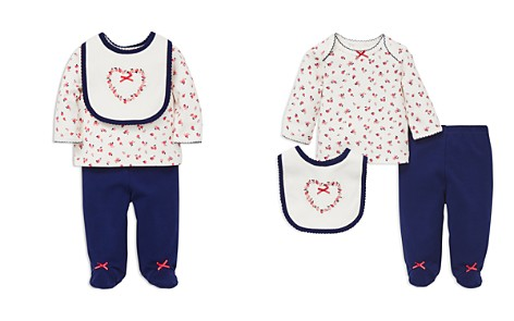 Little Me Girls' Sweet Apple Tee, Footie Pants & Bib Set - Baby - Bloomingdale's_2