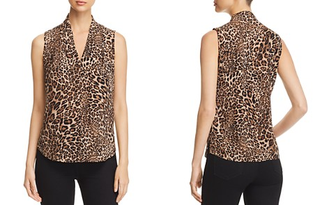 Le Gali Amal Leopard Sleeveless Blouse - 100% Exclusive - Bloomingdale's_2