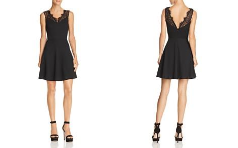 AQUA Lace-Trim Ponte Dress - 100% Exclusive - Bloomingdale's_2