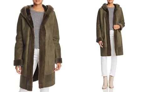 Maximilian Furs Lamb Shearling Coat with Mink Fur Hood - 100% Exclusive - Bloomingdale's_2