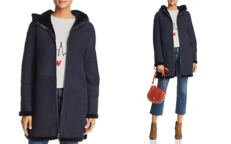 Maximilian Furs Hooded Suede & Lamb Shearling Coat - 100% Exclusive - Bloomingdale's_2
