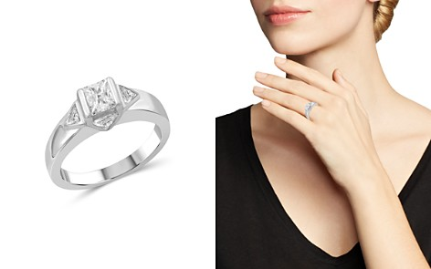 Love and Pride 14K White Gold Princess & Trillion Diamond Engagement Ring - Bloomingdale's_2