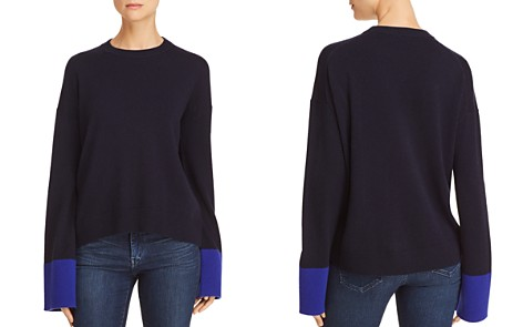 Theory Color-Block Wool & Cashmere Sweater - 100% Exclusive - Bloomingdale's_2
