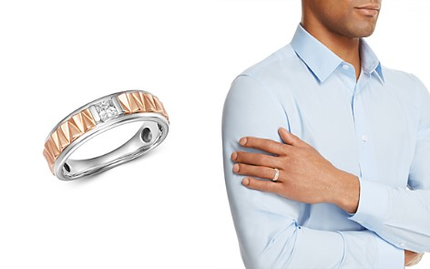 Bloomingdale's Diamond Men's Band Ring in 14K White Gold & 14K Rose Gold, 0.25 ct. t.w. - 100% Exclusive_2