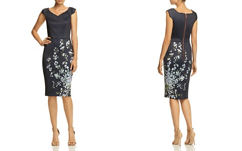 Ted Baker Lorelea Graceful Floral Scuba Dress - 100% Exclusive - Bloomingdale's_2