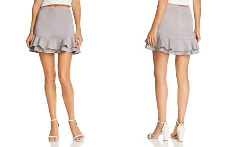 AQUA Ruffled Faux Suede Skirt - 100% Exclusive - Bloomingdale's_2