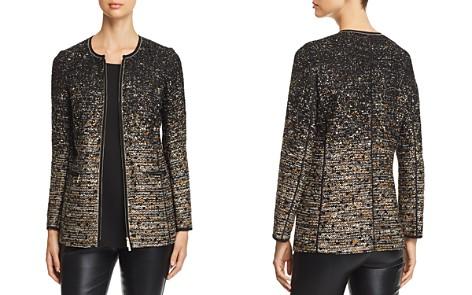 Lafayette 148 New York Karina Ombré Metallic Tweed Jacket - Bloomingdale's_2