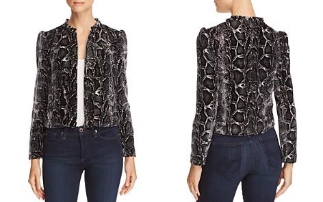 Rebecca Taylor Velvet Snake-Print Jacket - Bloomingdale's_2