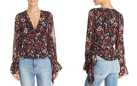Lucy Paris Floral Print Faux-Wrap Top - Bloomingdale's_2