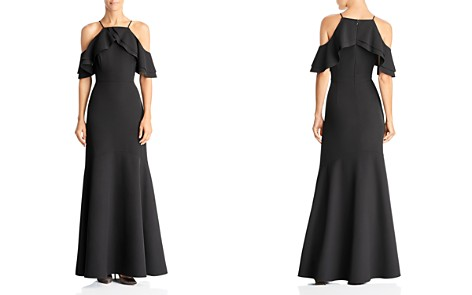 Laundry by Shelli Segal Cold-Shoulder Ruffle Gown - Bloomingdale's_2