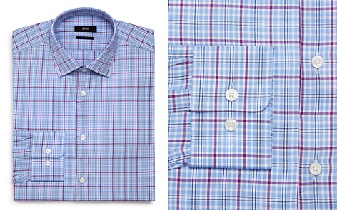 BOSS Checked-Plaid Regular Fit Dress Shirt - Bloomingdale's_2