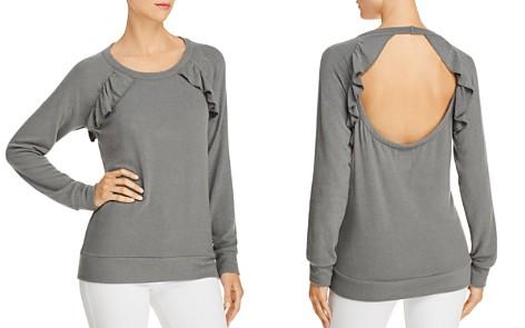 CHASER Ruffled Cutout Sweatshirt - Bloomingdale's_2