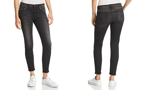 Hudson Barbara Washed Skinny Jeans in Studded Black - 100% Exclusive - Bloomingdale's_2