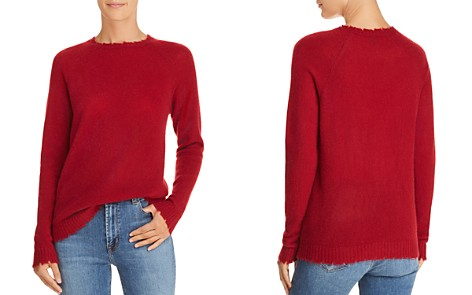Minnie Rose Distressed Cashmere Sweater - Bloomingdale's_2