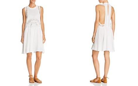AQUA Eyelet Detail T-Back Dress - 100% Exclusive - Bloomingdale's_2