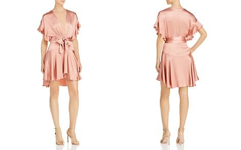 Saylor Plunging Satin Mini Dress - Bloomingdale's_2