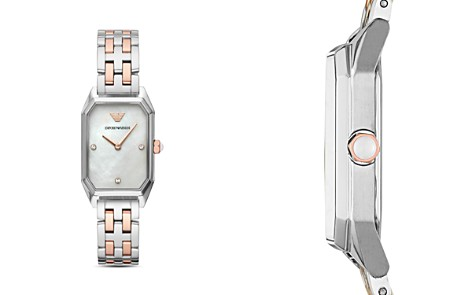 Emporio Armani Two-Tone Mother-of-Pearl Dial Watch, 24mm x 36mm - Bloomingdale's_2