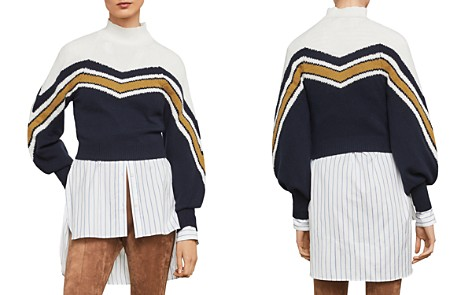 BCBGMAXAZRIA Varsity Striped Cropped Sweater- 100% Exclusive - Bloomingdale's_2