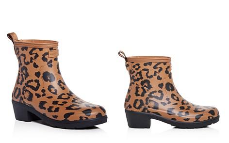 Hunter Women's Refined Leopard Print Matte Block-Heel Rain Booties - Bloomingdale's_2