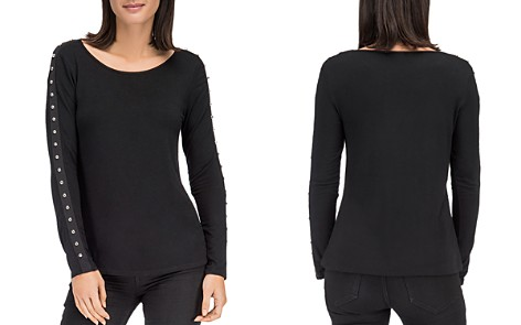 B Collection by Bobeau Amber Stud Sleeve Top - Bloomingdale's_2