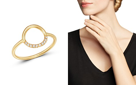 Zoë Chicco 14K Yellow Gold Small Thick Circle Pavé Diamond Ring - Bloomingdale's_2