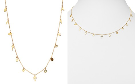 "Zoë Chicco 14K Yellow Gold Itty Bitty Dangling Charms Adjustable Necklace, 18"" - Bloomingdale's_2"