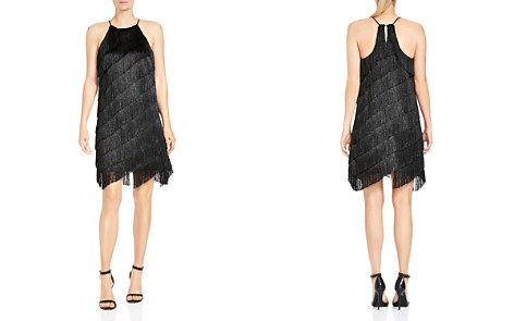 HALSTON HERITAGE Tiered Fringed Slip Dress - Bloomingdale's_2