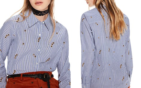 Scotch & Soda Star Embroidered Stripe Button-Down Shirt - Bloomingdale's_2