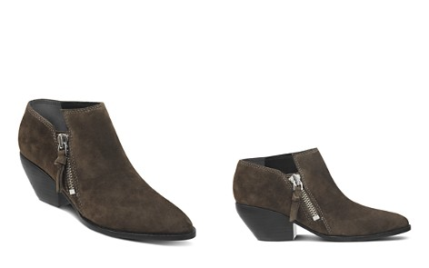 Sigerson Morrison Women's Hannah Pointed Toe Western Suede Ankle Booties - Bloomingdale's_2
