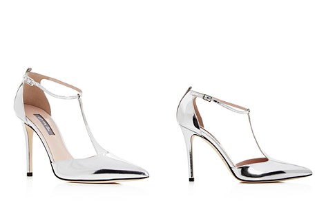 SJP by Sarah Jessica Parker Women's Taylor Patent Leather T-Strap Pointed Toe Pumps - Bloomingdale's_2