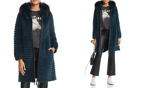 Maximilian Furs Hooded Beaver Fur Coat with Fox & Mink Fur Trim- 100% Exclusive - Bloomingdale's_2