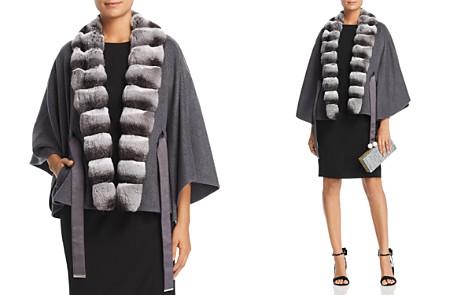 Maximilian Furs Chinchilla Fur Trim Cashmere Cape - 100% Exclusive - Bloomingdale's_2
