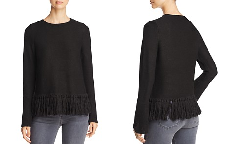 Design History Fringed Crewneck Sweater - Bloomingdale's_2