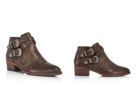Frye Women's Lena Almond Toe Leather Western Booties - Bloomingdale's_2