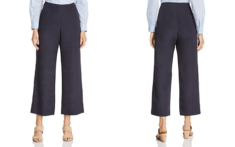 Weekend Max Mara Favola Moire Cropped Wide-Leg Pants - 100% Exclusive - Bloomingdale's_2