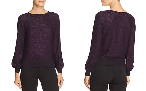 MILLY Metallic Shimmer Sweater - Bloomingdale's_2