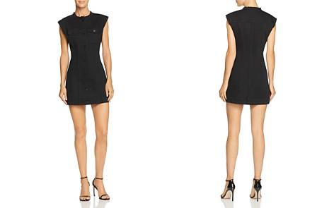T by Alexander Wang Denim Mini Dress - Bloomingdale's_2