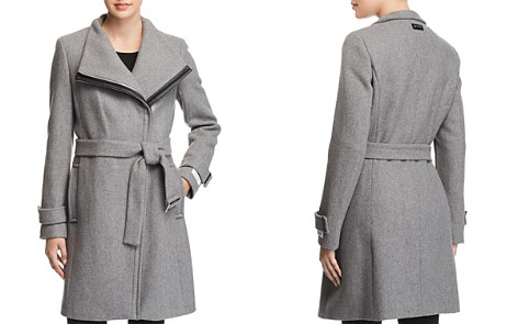 Calvin Klein Belted Asymmetric Front Coat - Bloomingdale's_2