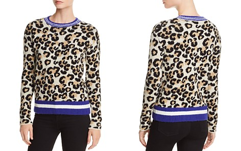 AQUA Striped-Trim Leopard Print Sweater - 100% Exclusive - Bloomingdale's_2