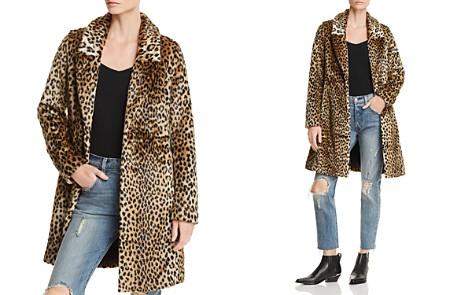 AQUA Cheetah Print Faux Fur Coat - 100% Exclusive - Bloomingdale's_2
