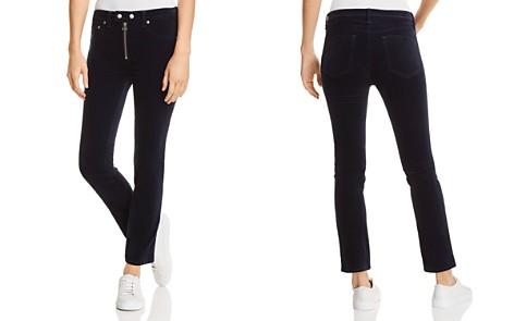 rag & bone/JEAN Dojo Velvet Straight-Leg Jeans in Navy - 100% Exclusive - Bloomingdale's_2