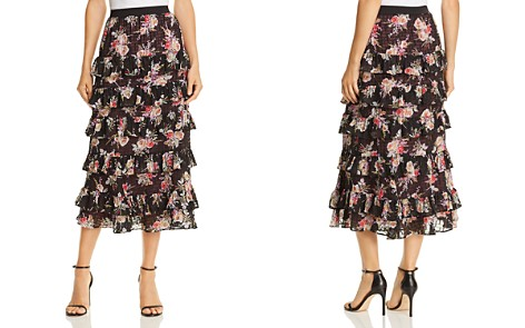 Rebecca Taylor Bouquet Tiered Midi Skirt - Bloomingdale's_2
