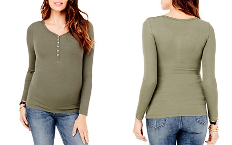 Ingrid & Isabel Ribbed Maternity Henley Top - Bloomingdale's_2