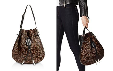 KAREN MILLEN Medium Leopard-Print Leather Drawstring Bag - Bloomingdale's_2