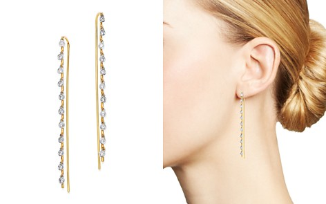 Meira T 14K Yellow Gold & 14K White Gold Bezel-Set Diamond Dangle Thread Through Earrings - Bloomingdale's_2