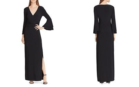 Lauren Ralph Lauren Jersey Flutter-Sleeve Gown - Bloomingdale's_2