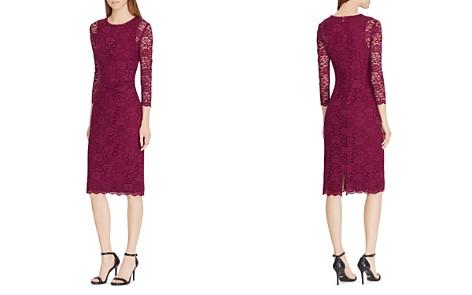 Lauren Ralph Lauren Lace Sheer-Sleeve Dress - Bloomingdale's_2