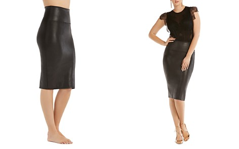 SPANX® Faux Leather Pencil Skirt - Bloomingdale's_2