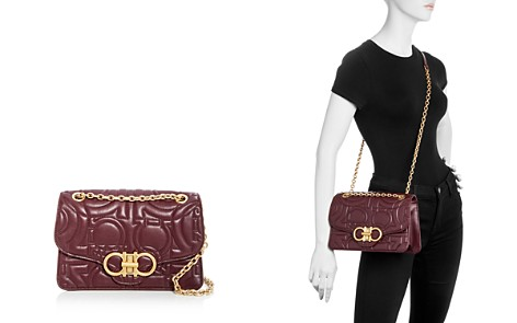 Salvatore Ferragamo Gancini-Quilted Large Leather Shoulder Bag - Bloomingdale's_2